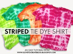 Join the tie-dye revolution! Make a striped tie dye shirt with help from @ILoveto Create!