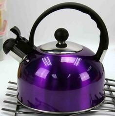 purple tea kettle