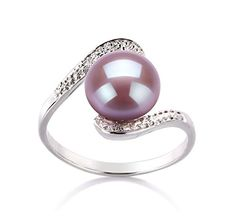 Lavender 910mm AA Quality Freshwater 925 Sterling Silver Cultured Pearl Ring  Size6 * Click image for more details.(This is an Amazon affiliate link and I receive a commission for the sales)