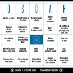 Oscar Bingo 2015   #Oscars #Bingo #Oscars2015