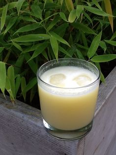 Fresh coconut and pineapple Pina Colada