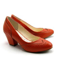 Take a look at this Burnt Orange Heather Pump by B.A.I.T. on #zulily today!