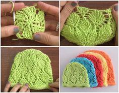 Diamond Beanie Hat Crochet Tutorial