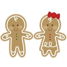 Gingerbread Couple SVG cutting file gingerbread man svg cut file christmas svgs free svg cuts