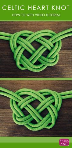 How to Make a Celtic Heart Knot, perfect for St. Patrick& Day with Free Video Tutorial by Studio Knit via How to Make a Celtic Heart Knot, perfect for St. Patricks Day with Free Video Tutorial by Studio Knit via Celtic Knots Diy, Celtic Knot Tutorial, Celtic Heart Knot, Celtic Knot Necklace, Celtic Knot Jewelry, Celtic Knot Bracelets, Hemp Necklace, Bracelet Knots, Pearl Necklace