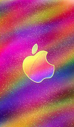 Glitter Phone Wallpaper, Apple Logo Wallpaper Iphone, Iphone Homescreen Wallpaper, Glitch Wallpaper, Rainbow Wallpaper, Heart Wallpaper, Cellphone Wallpaper, Wallpaper Backgrounds, Apple Background
