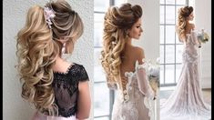 Wedding Hairstyles Tutorials Compilation ||  Bridal Hairstyles For Long ...