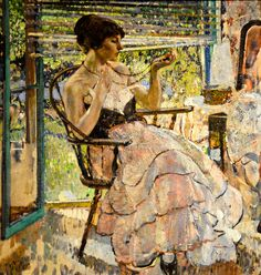 Richard Miller - The Necklace, 1924 at Renwick Art Gallery Washington DC