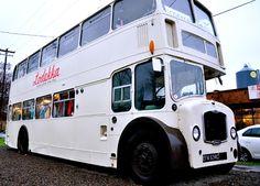 Double Decker Bus made into a dress shop. Lodekka Portland, OR