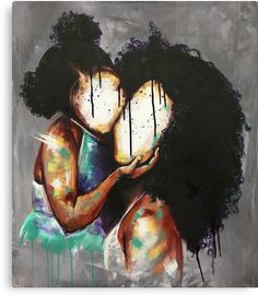 BFA Illustration from Atlanta College of Art Teacher at Pace Academy Atlanta, GA Focus: Portraits This could be my daughter and I Art Black Love, Black Girl Art, Art Girl, African American Art, African Art, Art Afro Au Naturel, Arte Black, Black Art Pictures, Natural Hair Art