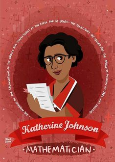 Katherine Johnson women in science poster | Etsy Apollo 11 Mission, Katherine Johnson, Teacher Photo, Women In History, Friend Birthday, Doodles, Poster Prints, Drawings, Etsy