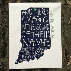 Notre Dame Fighting Irish Print. Created by a SMC chick!!