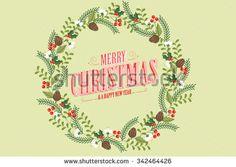 christmas wreath/ garland vector/illustration