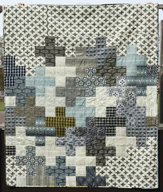 Parson Gray Modern Plus Quilt | Blogged | Mary-and-Tobit | Flickr
