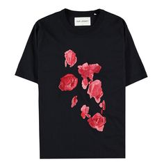 Our Legacy Mid Sleeve Tee Embroidered Roses Embroidered Roses, Our Legacy, Winter Collection, Concept, Tees, Sleeves, Mens Tops, T Shirt, Fashion