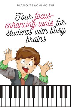 Four tools you can use with piano students who have the ability to focus, but do not yet have the necessary strategies to do so predictably… Team Building Activities, Music Activities, Piano Teaching, Teaching Tips, Piano Lessons, Music Lessons, Physical Education Games, Health Education, Kids Piano