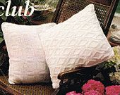 VCP103 two designs richly textured cushion cover vintage knitting pattern PDF instant download