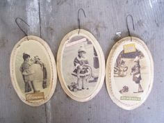 nostalgic wooden ornaments