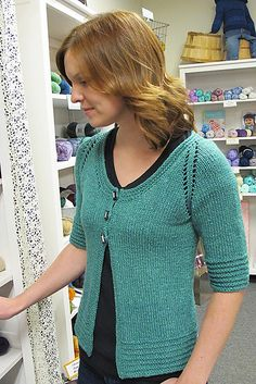 Ravelry: 1401 Short Sleeved 3 Button Cardigan pattern by Diane Soucy