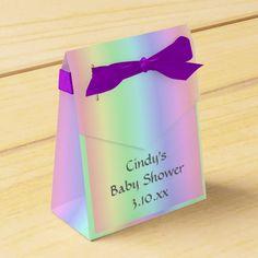 Pastel Rainbow Party Favor Box