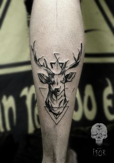 Balanced Deer Leg Tattoo