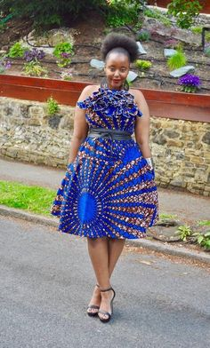 YULI skirt and top set with FAUX leather belt Latest African Fashion Dresses, African Dresses For Women, African Print Fashion, African Wear, African Style, Ankara Skirt And Blouse, Ankara Dress, Skirt And Top Set, Skirt Set