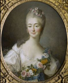 Born Jeanne Becu, she was a high class prostitute, eventually marrying her pimp's brother, Guillaume du Barry. The marriage afforded her a title, and made her a more appropriate consort for the King. She claimed royal heritage where there was none and was loathed by Marie Antoinette. Upon Louis XV's death from smallpox, she was exiled from Versailles.