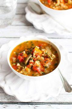 6. Slow Cooker Vegetable Barley Soup