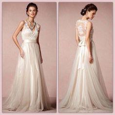 Vestido de casamento de tule sem volume!