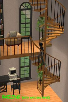 ModTheSims - Pack of FULLY ANIMATED spiral stairs