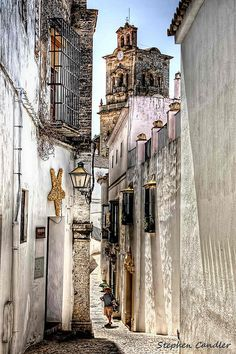 Street scene in Arcos de la Frontera, Andalusia_ Spain Places Around The World, Oh The Places You'll Go, Great Places, Places To Travel, Places To Visit, Around The Worlds, Beautiful World, Beautiful Places, Spain And Portugal