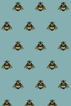 Napoleon Bee Velvet fabric by Timorous Beasties