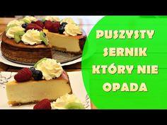 Puszysty Sernik Który Nie Opada - Niezawodny Przepis - YouTube Ale, Waffles, Cheesecake, Breakfast, Desserts, Food, Youtube, Morning Coffee, Tailgate Desserts