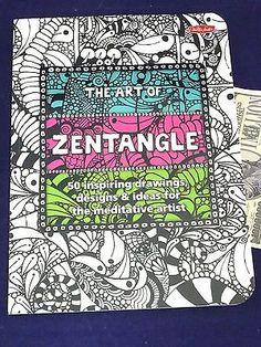 Art of Zentangle Book Walter Foster Drawings Technique Meditative Artist Crafts:Art Supplies:Instruction Books & Media www.internetauctionservicesllc.com $19.99