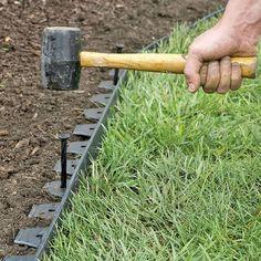 EasyFlex™ No Dig Garden Edging, 50' - Metal Landscaping Edging
