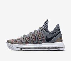 Nike Zoom KD10 X 897815-900 Multi-Color Black Grey Durant Basketball Shoes  NEW