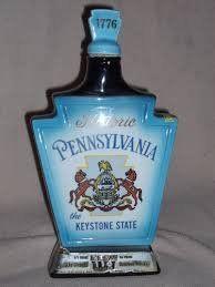 Vintage+Jim+Beam+Historic+Pennsylvania+Ceramic+Decanter+1968