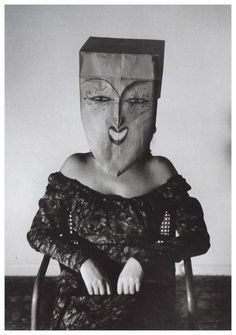 steroge:  Masquerade Saul Steinberg and Inge Morath (photo), ca. 1960