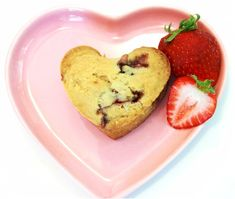 Go Dairy Free: Strawberry Love Muffins (Dairy-Free, Vegan).