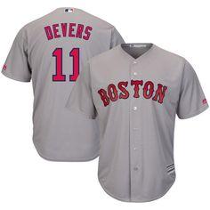 #Fanatics.com - #Majestic Rafael Devers Boston Red Sox Majestic Road Official Cool Base Player Jersey - Gray - AdoreWe.com
