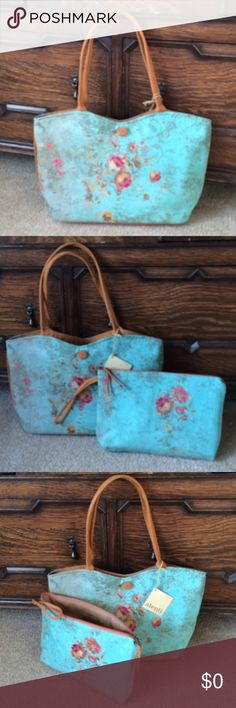 Atenti Lolita Print Orly Tote & Clutch Set Just arrivedDetails to follow Bags Totes