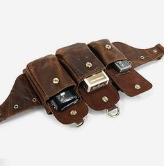 Genuine+leather+Belt+Bag+/+Rugged+Leather+by+CrazyLeatherBag,+$69.00
