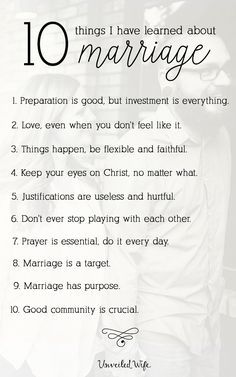 10 Things I Have Learned About Marriage In 9 Years