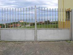 portón en acero galvanizado http://www.tallereslobon.com/