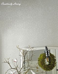 Bejeweled Starry Moroccan Night Stencil Wall | Creatively Living Blog