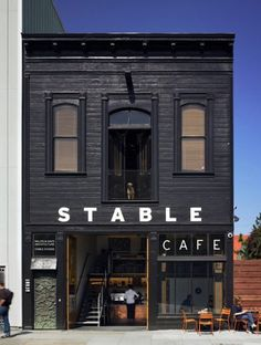 Stable Cafe store front with a western design theme