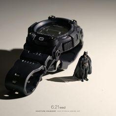 """좋아요 6,606개, 댓글 18개 - Instagram의 田中達也 Tatsuya Tanaka(@tanaka_tatsuya)님: """". 6.21 wed """"New Batmobile"""" . 「私は常に時間と戦っている」 . #Gショック #バットモービル #バットマン #GSHOCK #Batmobile #Batman…"""""""