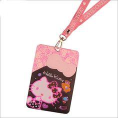 2015 hot sale cartoon id card pouch hello kitty business card bag pu hello kitty job card student identification card bank id card holder bag b051 reheart Images