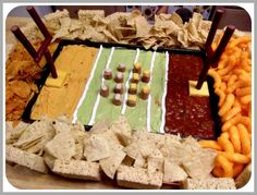 Touchdown! This dip will surely impress at your next football game @  http://cute-ecakes.com/2012/02/three-yummy-superbowl-snacks/