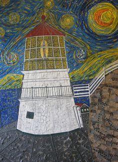 "duct tape is Artists Pete Warburton's medium.  ""Van Gogh Duct Tape Art"""